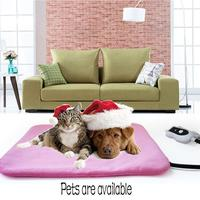 Dog House Pet Heating Pad Electric Heating Pad Waterproof Adjustable Warming Mat With Chew Resistant Bed House For Dog Cats t25