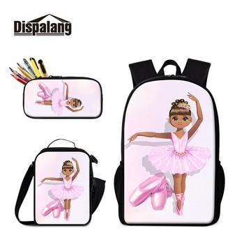 Dispalang 3 Pcs School Backpack Set for Teenage Ballet Girls Boys School Bag Student Kids Bagpack Children Pencil Bag Satchel