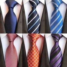 IHGSNMB Men Jacquard Classic Necktie Luxurious Fashion Stripe Ties for Mens Business Wedding Male Shirt Gift Accessories Tie