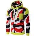 Venda quente Homens Hoody Hip Top Atumn Moda Estilo Único Bolso Com Chapéu Homens Sweatershirts Pullover Streetwear Masculino Personalizado