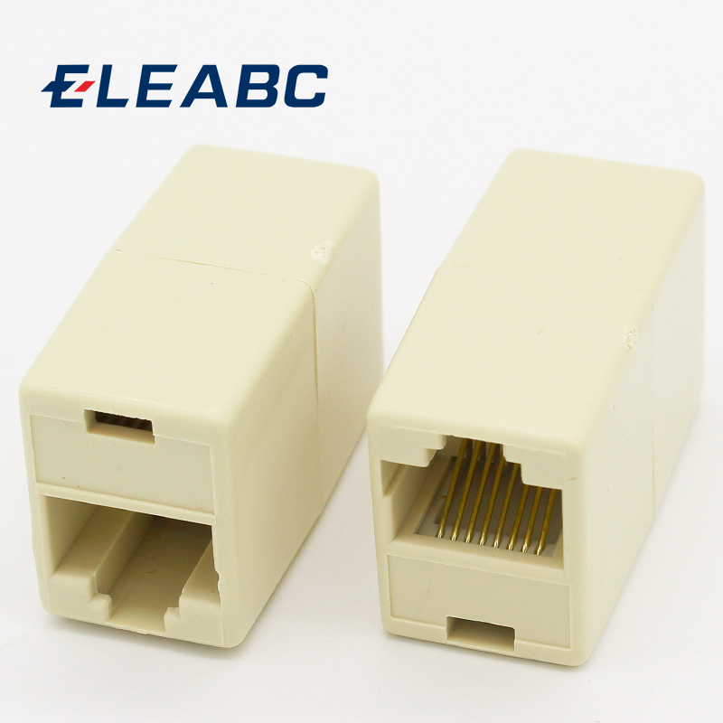 IMC Hot 10 Pcs RJ45 8P8C Double Ports Female Plug Telephone Connector