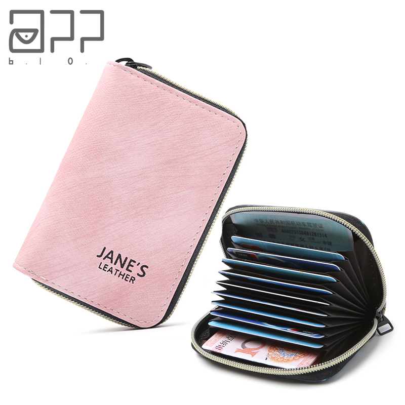 APP BLOG Women Men Credit ID Card Holder Case