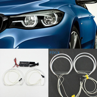 FSYLX ccfl Angel Eyes Lights Halo Rings For Bmw E46 1999 2004 Non projector Retrofit DIY Kit 131mm+146mm angel eyes for bmw e46