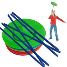 Adult Kids Spinning Juggling Plates Sticks Performance Prop Balance Skills Games Clown Circus Toy Gifts