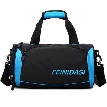 Водонепроницаемые мужские дорожные сумки 2018 баррель портативный вещевой мешок повседневные сумки черный багаж, для отпуска Tote X147 >> Shop424115 Store