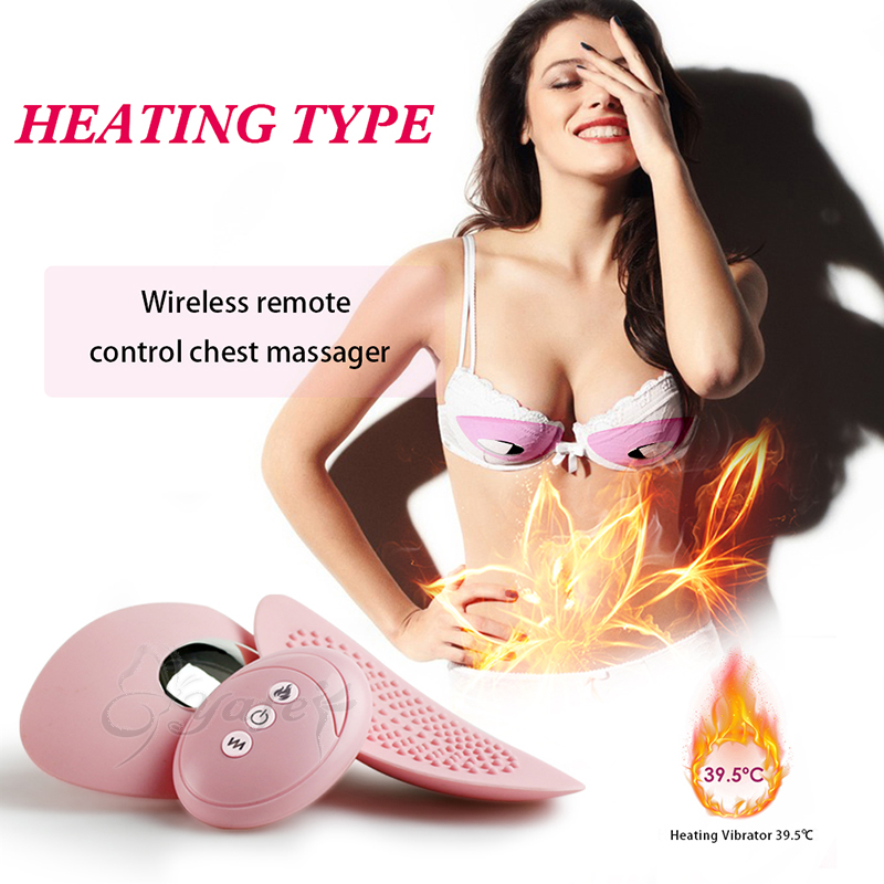 10 Speed Electric Smart Heating Vibrating bra Breast Enhancer Chest Enlargemen Massage Silicone Vibrator Sex Machine for Women free shipping professional electric vibrating breast enhancer enlargement massager vibrator both for health care sex toys