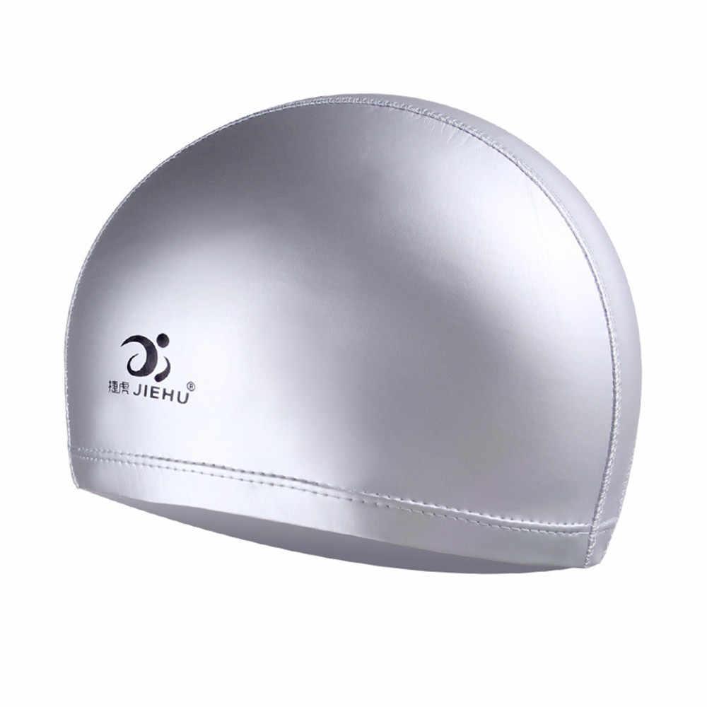 Tahan Air Renang Caps Melindungi Telinga Rambut Panjang Sports Outdoor Topi Gratis Ukuran, Nyaman untuk Pria dan Wanita Dewasa d40