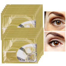 10pair=20pcs  Deck Out Women Crystal Eyelid Patch Anti-Wrinkle Whitening Crystal Collagen Eye Mask Dark Circle 20pcs 10pair crystal collagen eye mask crystal eyelid patch anti wrinkle moisture under eye dark circle remover eye patch