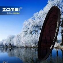 Zomei الأشعة تحت الحمراء IR تصفية 680nm 720nm 760nm 850nm 950nm IR تصفية 37 مللي متر 49 مللي متر 52 مللي متر 58 مللي متر 67 مللي متر 72 مللي متر 82 مللي متر ل SLR DSLR عدسة الكاميرا