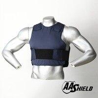AA Shield Ballistic Suit Body Armour Vest Comfortable Bullet Proof Aramid Core Insert Safety M/L Dark Blue Level NIJ IIIA &HG2