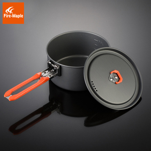 Image 4 - Fire Maple Feast 3 Outdoor Camping Hiking Cookware Backpacking Cooking Picnic Pot Pan Set Foldable Handle 2 Pots 1 Frypan FMC F3