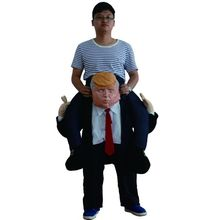Funny Donald Trump Rider Costume 2017 Newest Inflatable Costumes For Adults Women Men Halloween Carnaval Party Cosplay Disfraz