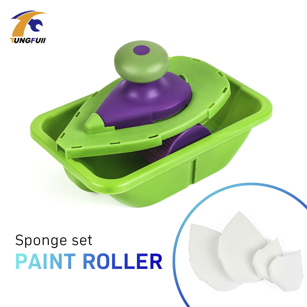 High Quantity New Paint Roller And Tray Set Painting Brush Point N Paint Household Decorative Tool