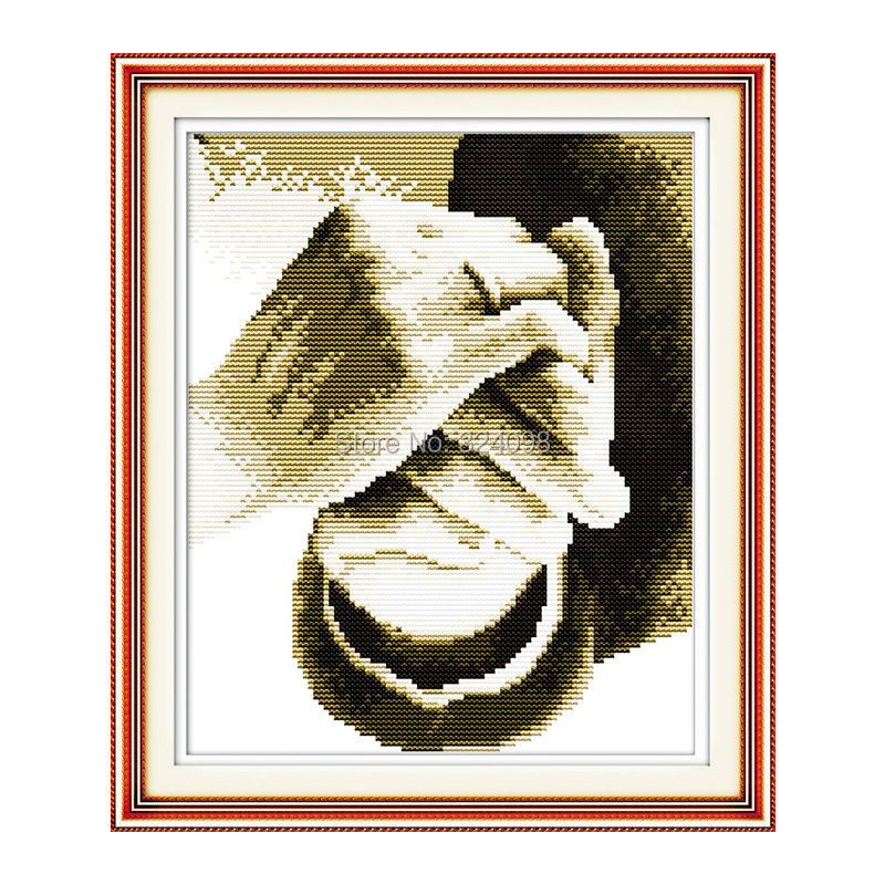 Partihandeln, Stitch, 11CT 14CT Cross Stitch, Set för Broderi Kit, Håll din handräknade Cross-Stitching