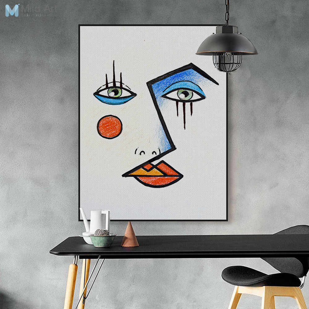 Modern Abstract Minimalist Face Picasso Posters Prints Nordic Living Room Wall Art Pictures Home Decor Canvas Paintings No Frame