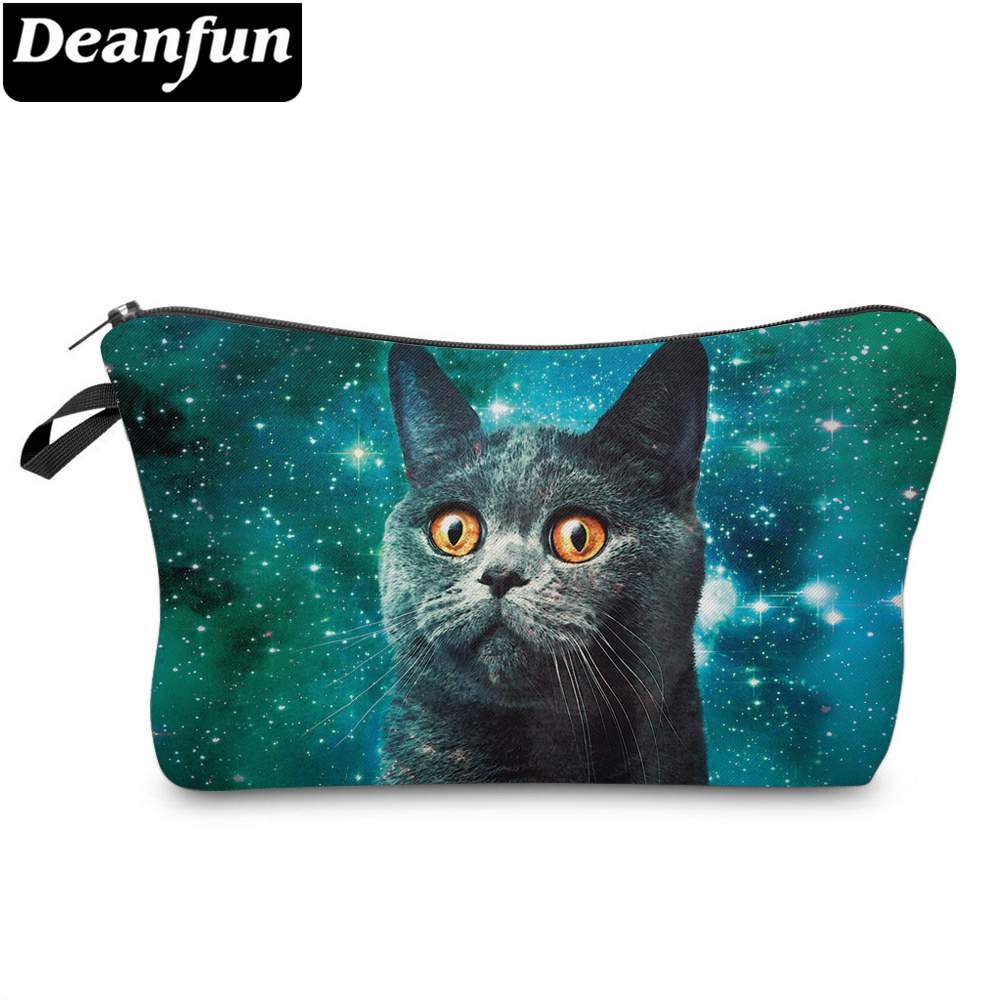 Deanfun 3D Printed Cat Cosmetic Bags Women Makeup Storage For Travelling 51243