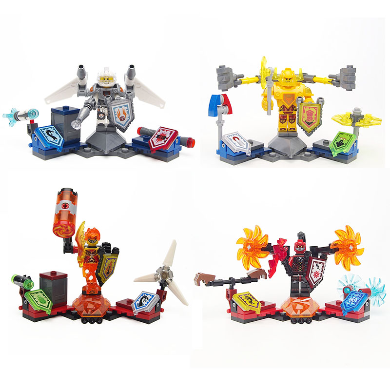 Nexo Knights War chariot Minifigures Military weapon Marvel Building Blocks Compatible legoed Toys