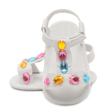 2017 Newest Fashion Summer Cute Baby Girls Boy PU Crystal Toddlers Kids Casual Hollow Shoes Anti-skid Soft Prewalker