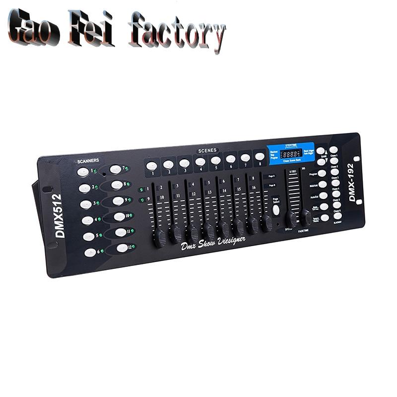 192 DMX Controller DJ Equipment DMX 512 Console Stage Lighting For LED Par Moving Head Spotlights DJ Controlle