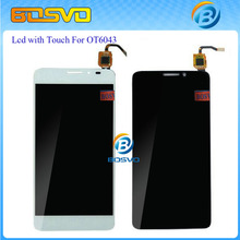 LCD Display Touch Screen Digitizer Assembly For Alcatel One Touch Idol X+ X Plus OT6043 6043 6043D Black White free shipping