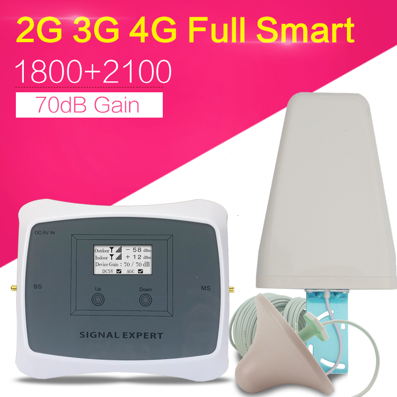 2g 3g 4g Cellular Signal Booster GSM LTE 1800 UMTS 2100 Mhz Cell Phones WCDMA 3G Signal Repeater 1800mhz Mobile Phone Booster