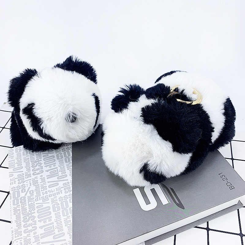 Pokemon Móc Khóa Sang Trọng Panda Búp Bê Móc Chìa Khóa Lông Pompom Mặt Dây Chuyền Túi Trang Trí Xe Móc Khóa Phụ Kiện Thời Trang Cho Bé Đồ Chơi Quà Tặng