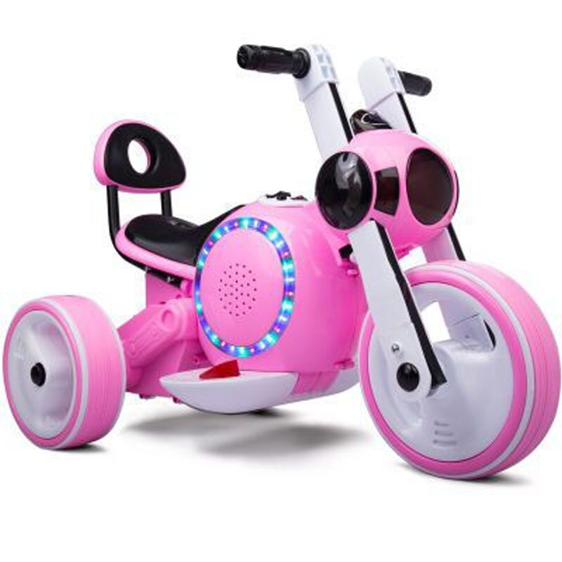 ФОТО Hot Sale Environment-friendly and Safe Three Wheeled Children Electric Motorcycle Kid's Toy Ride On Car 3 Color Free Shipping
