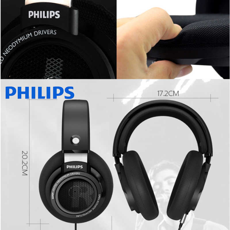 Original Philips SHP9500 Professional Headphones with Active Noise  Cancelling 3 meters headset for Xiaomi MP3 Official Test