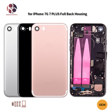 OEM Full Back Housing for iPhone 7 7G 7 Plus Back Battery Cover Chassis Housing+Camera Len