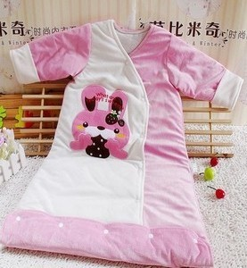 Small size baby velvet+cotton cartoon Sleeping Bags/ air conditioning sleeping bag/baby pajamas free shipping