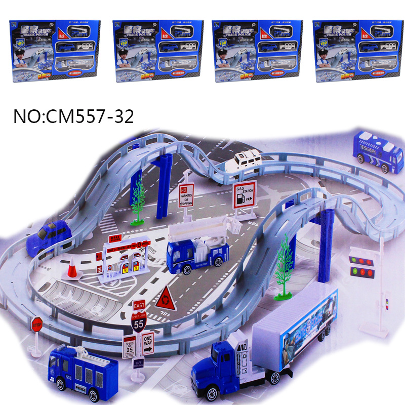 Children S Toys Track Car Model Electric Car Model Puzzle