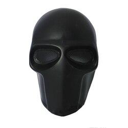 Armee von Zwei partei Maske Fiberglas Airsoft Paintball Helm (Schwarz) dance maske