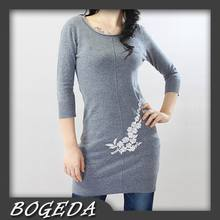 Cashmere sweater Women's long Pullover O neck Blue Warm Natural fabric High Quality Stock clearance Free shipping