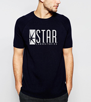 2016 Summer New Style Men T Shirts Fashion STAR S T A R Labs T Shirt