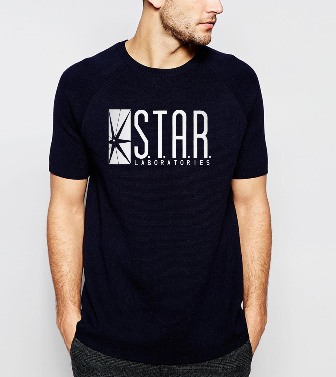 2019 Summer New Style Men T Shirts Fashion STAR S.T.A.R. labs T-Shirt 100% Cotton High Quality Tops Tees Brand clothing S-3XL