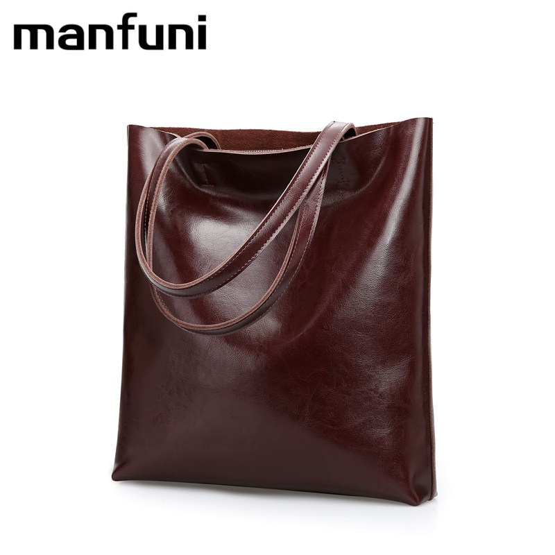 MANFUNI Genuine Leather Handbags Big Women Shoulder Bags Vintage Casual Tote Bag Bolsas Female Messenger Bag Black Green Gray original projector lamp r9842807 for barco ov 515 overview d2 120w overview d2 132w projectors