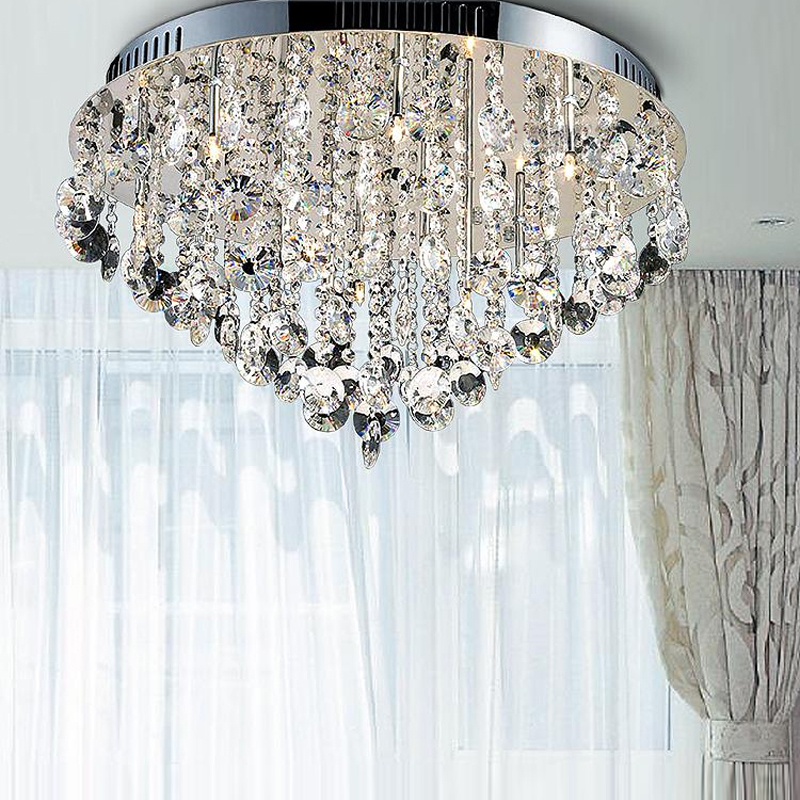 Contemporary Ceiling Lights Crystal Lamp Semi Flush Surface Mounted Modern Led Bedroom Lamps In From