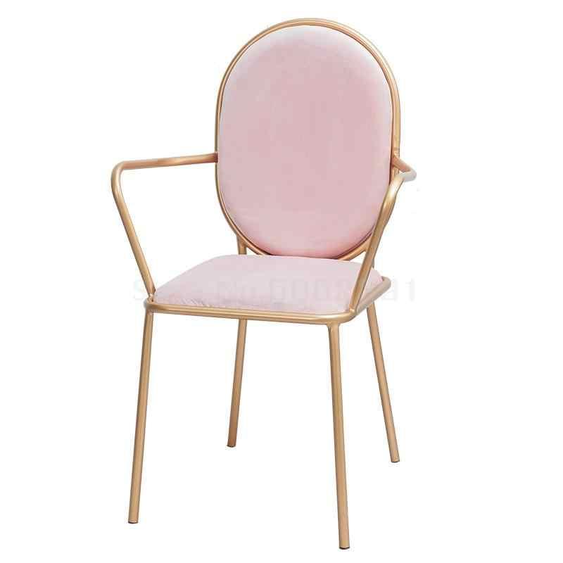Sillón nórdico simple dorado personalidad creativa silla mesa de comedor de ocio y silla de oficina Silla de escritorio de ordenador