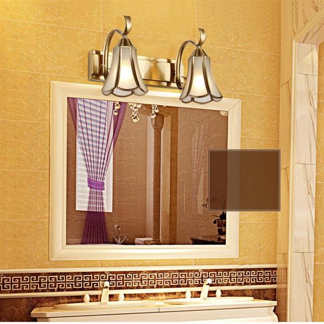 2 Light 35CM Retro Bathroom Mirror Light Gold Bronze Retro Vintage ...