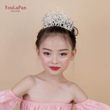 YouLaPan HP193-S little wedding crown childrens headband high quality bridal silver for women