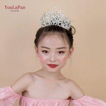 Youpapan hp193 s маленькая свадебная корона Детская повязка
