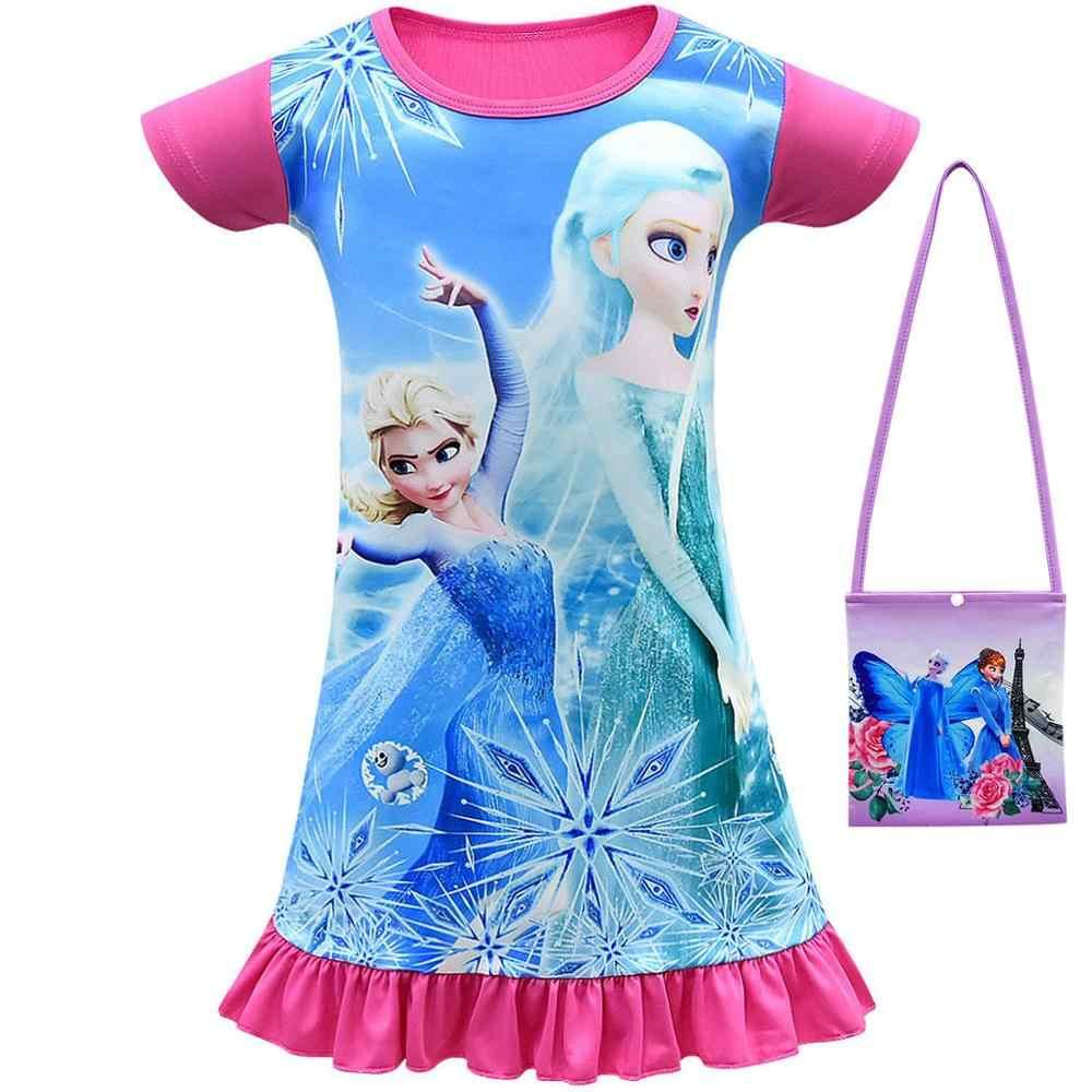 UM % A 1031 sael Quente Vestidos Crianças Snow Queen Elsa Anna Vestido Da Menina Vestido de Noite Vestido de Pijamas Do Bebê Crianças roupas bonitas Fantasias