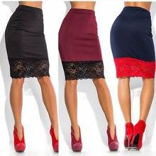 Sexy Lace Transparent Skirt Women Formal Stretch High Waist Short Lace Skirt Pencil Skirt Red Black Skirt