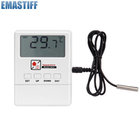 Free Shipping Wireless Temperature Detector With LCD Display 1527 Chips Work With Security GSM Alarm System