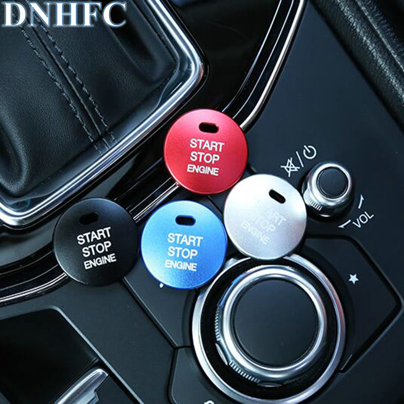 DNHFC ABS start stop engine Protect decorative sequins For MAZDA CX-5 CX5 KF 2nd Generation 2017 2018 Car Styling dnhfc interior door handle switch decorates sequins lhd for mazda cx 5 cx5 kf 2nd generation 2017 2018 car styling