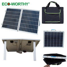 1pcs 40W 18V Foldable Polycrystalline Solar Panel with Panel Bag for Camper, convenience outdoor
