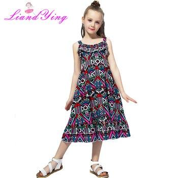 Платье для девочек, осенние детские платья принцессы, одежда для маленьких девочек с рисунком, 100% хлопок, детская одежда, От 2 до 12 лет >> LiYing Princess Store