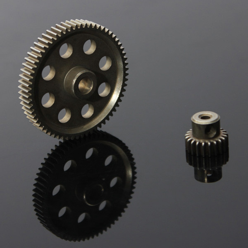 11184 Differential Main Gear 64T 11181 Motor Gear 21T RC HSP 1:10th Car Truck hot sale rc 1 10th 11184 hsp 1 10 gear differential main gear 64t 11181 motor gear 21t teeth car truck
