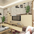 7Pcs Moire Pattern Removable Decal Mural Wall Arts Murals Walls Stickers Homes Decors*Mirror Decals