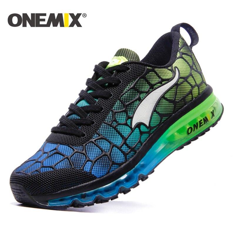 ONEMIX 2016 hommes runnig chaussures coussin sneaker d'origine zapatos de hombre mâle sport en plein air sport chaussures pour hommes taille 39 -46